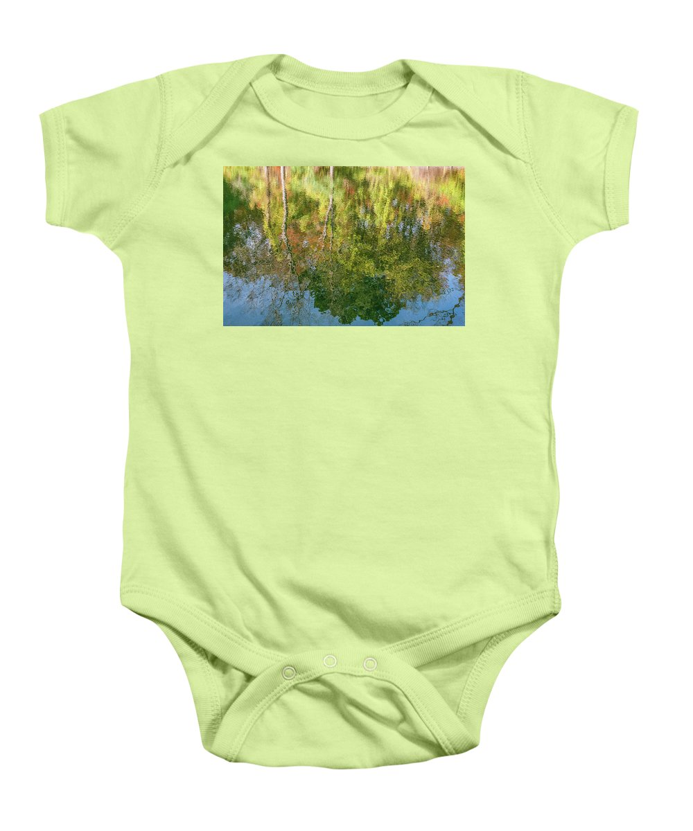 35mm Film Baby Onesie featuring the photograph Autumn Reflection by John McGraw