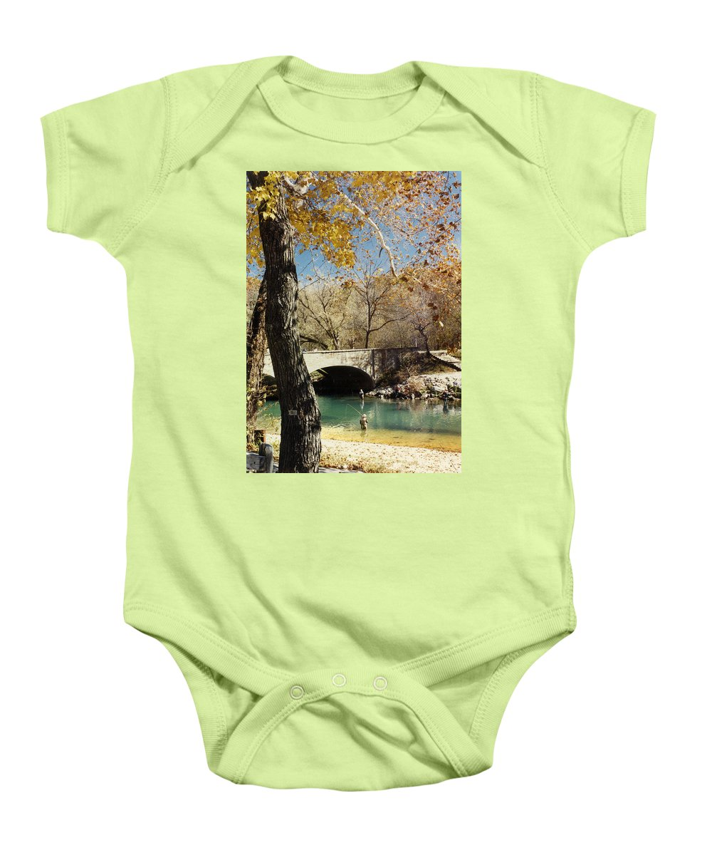 Landscape Baby Onesie featuring the photograph Bennet Springs by Steve Karol