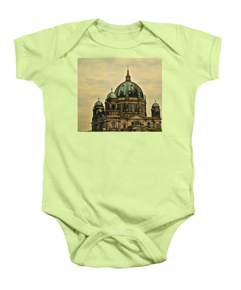 Berlin Baby Onesie featuring the photograph Berlin Architecture by Jon Berghoff