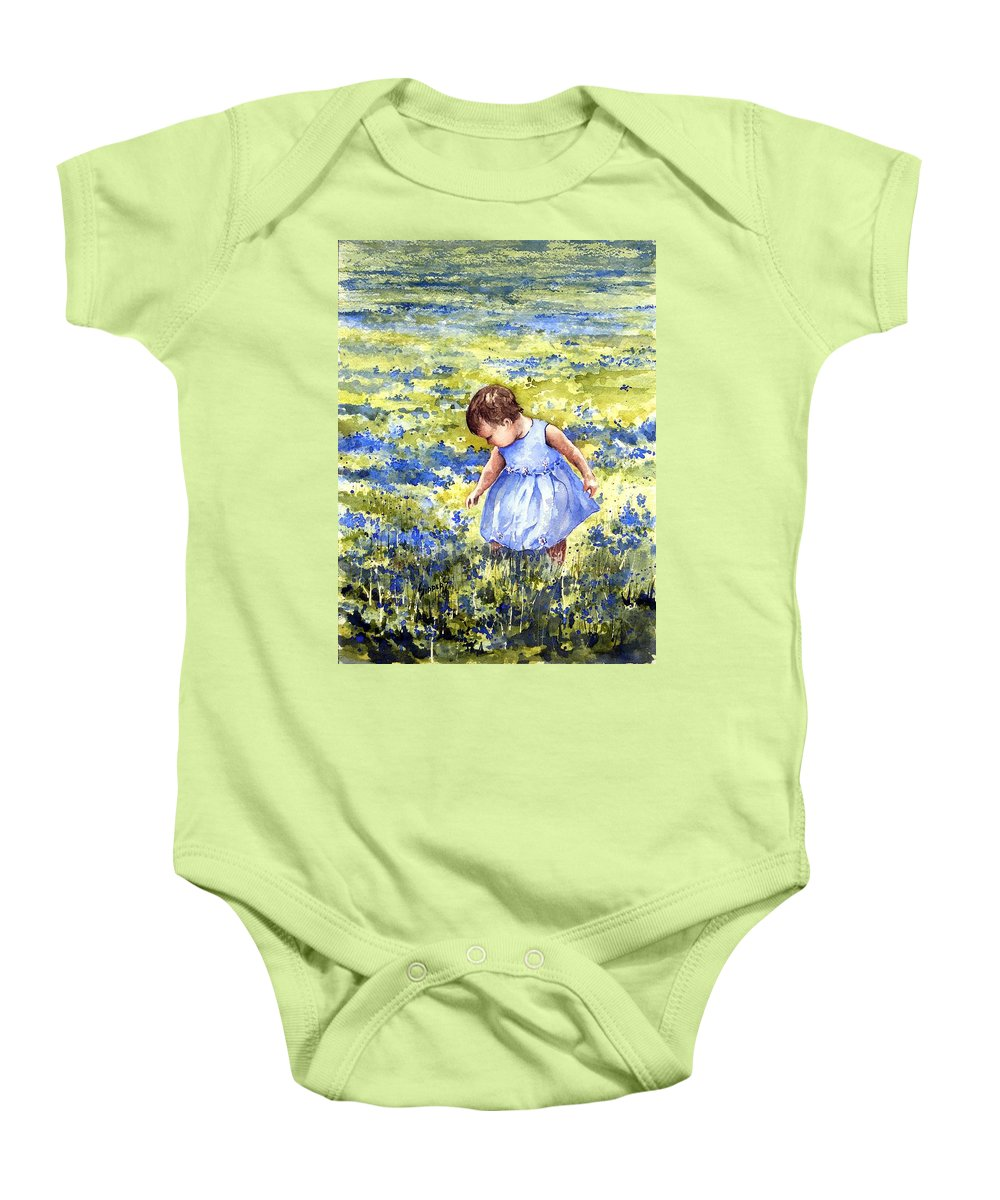 Blue Baby Onesie featuring the painting Blue by Sam Sidders