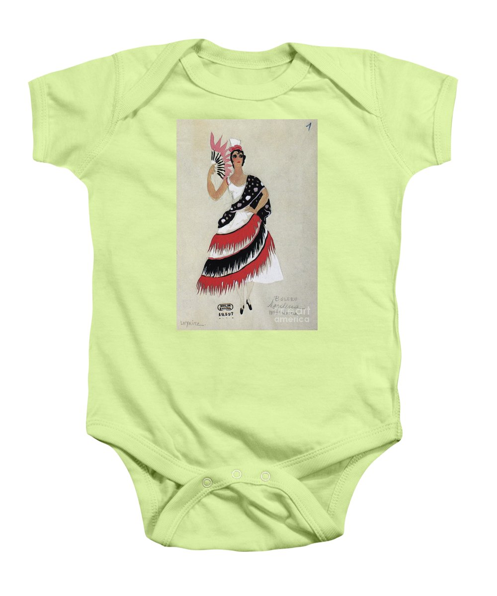 1941 Baby Onesie featuring the photograph Bolero Costume by Granger