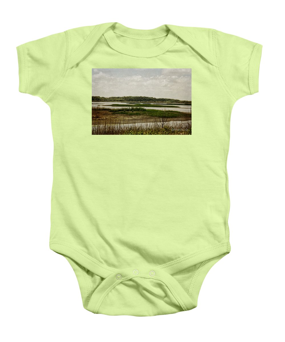 Wetlands Baby Onesie featuring the photograph Bombay Hook by Tom Gari Gallery-Three-Photography