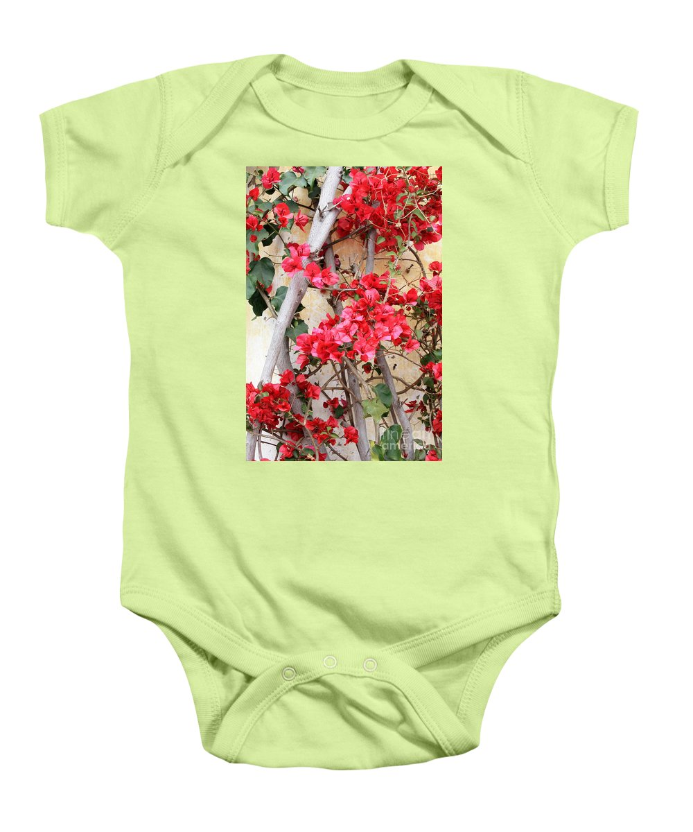 Bougainvilla Baby Onesie featuring the photograph Bougainvillea by Carol Groenen