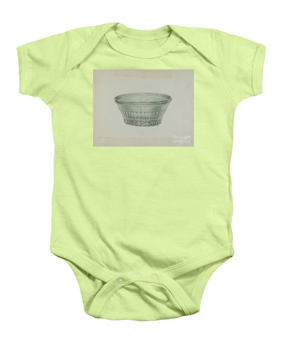 Baby Onesie featuring the drawing Bowl by John Dana