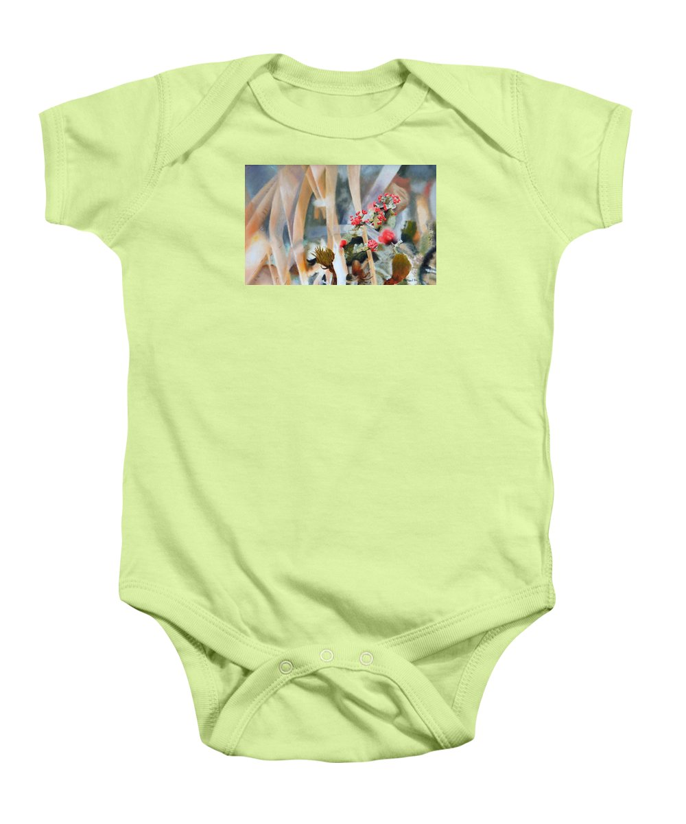 Nature Baby Onesie featuring the painting British Soldiers by Dave Martsolf