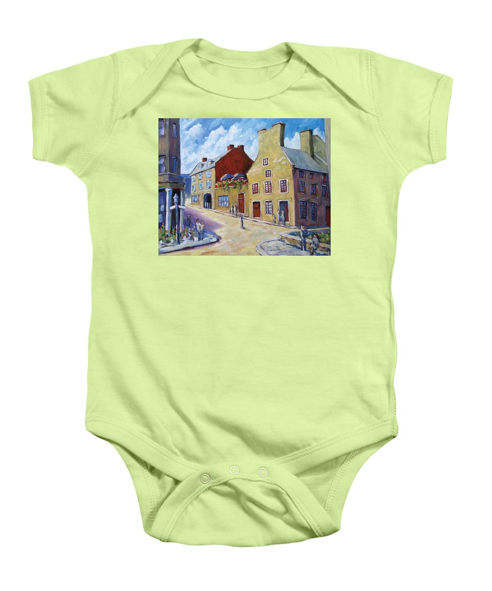 Rural Baby Onesie featuring the painting Calvet House Old Montreal by Richard T Pranke