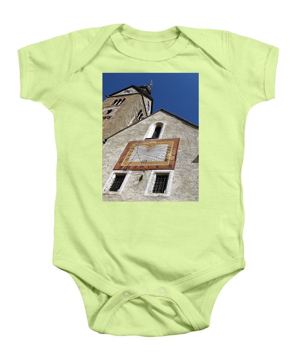 Sundial Baby Onesie featuring the photograph Carpe Diem IIi by Dragica Micki Fortuna