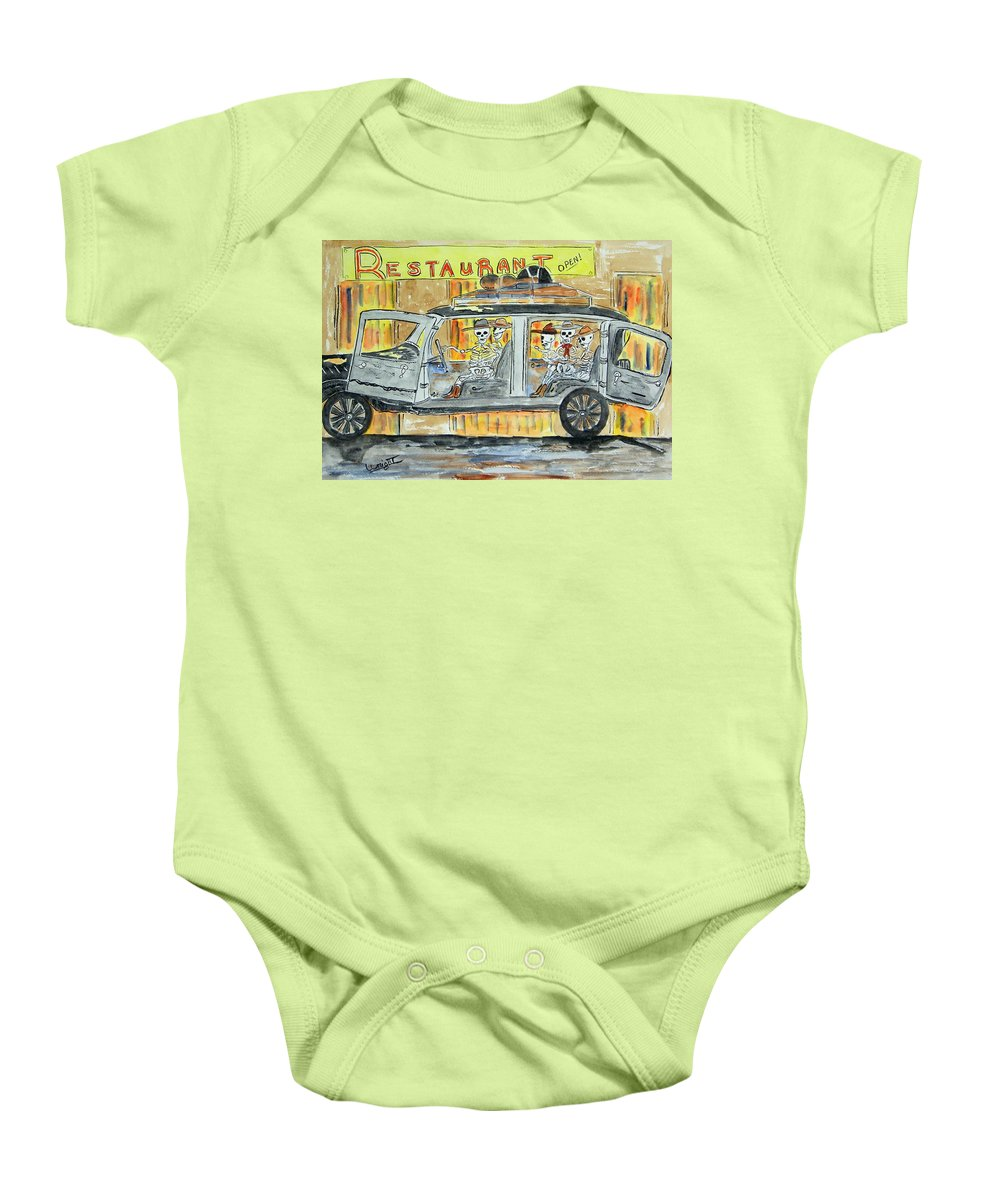 Skeletons Baby Onesie featuring the painting Classic Country Music Never Dies by Larry Wright