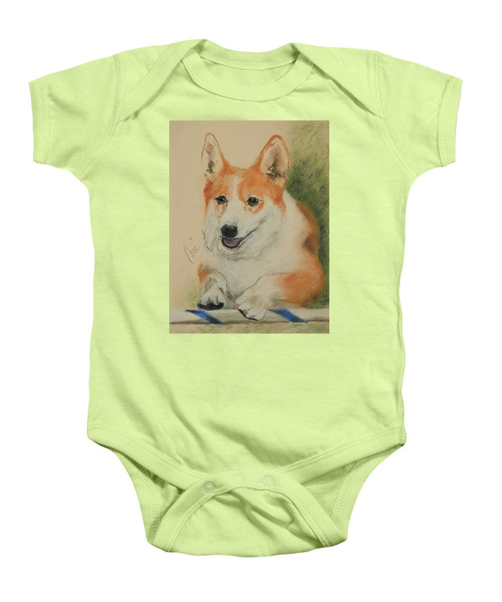 Pastel Baby Onesie featuring the drawing Clear Run by Cori Solomon