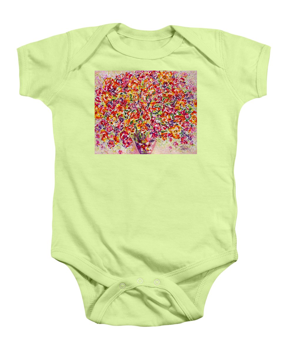 Framed Prints Baby Onesie featuring the painting Colorful Organza by Natalie Holland