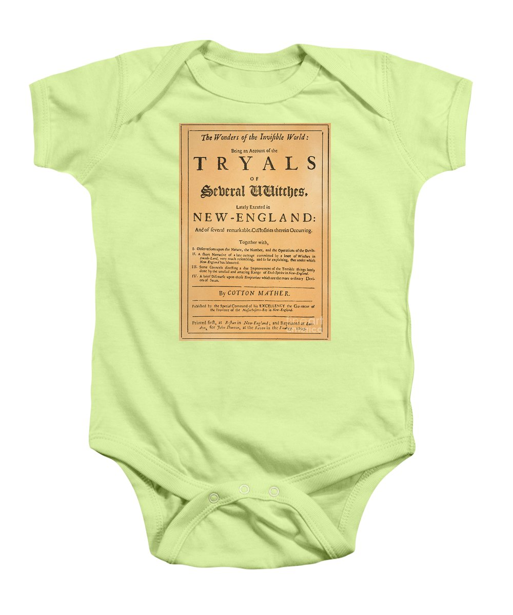 1693 Baby Onesie featuring the photograph Cotton Mather, 1693 by Granger