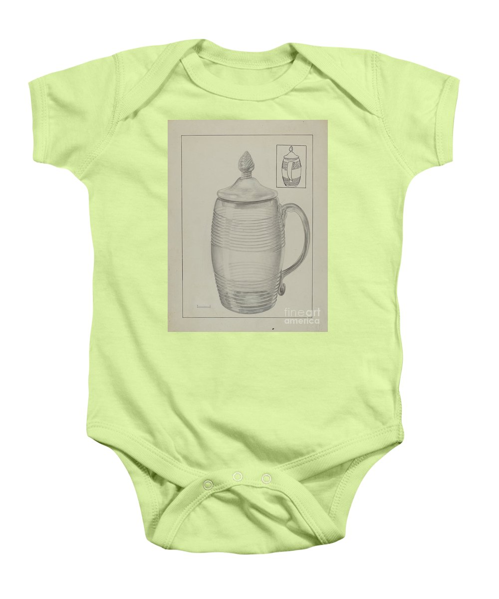 Baby Onesie featuring the drawing Covered Mug by Gertrude Lemberg
