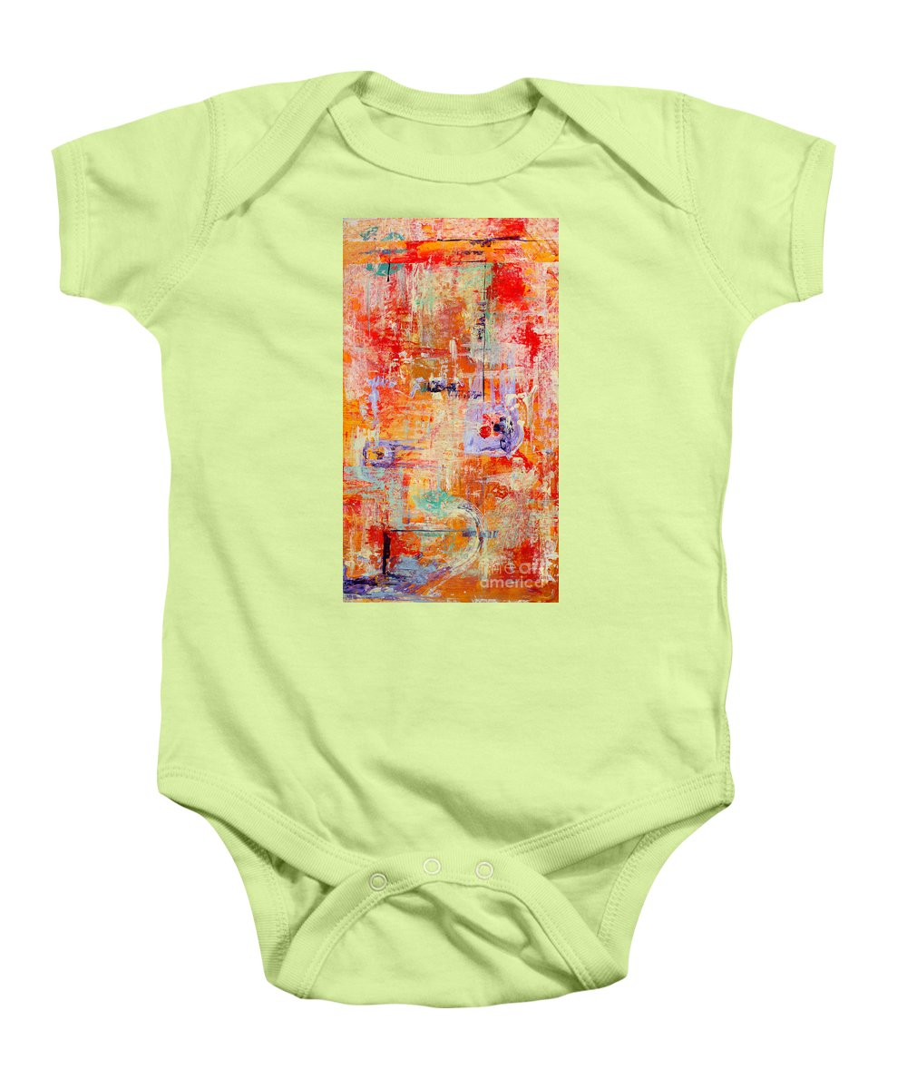 Large Format Painting Baby Onesie featuring the painting Crescendo by Pat Saunders-White