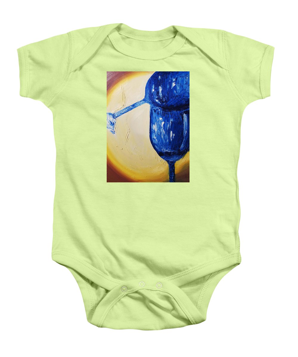Glass Baby Onesie featuring the painting Crystal Spotlight by Lauren Luna
