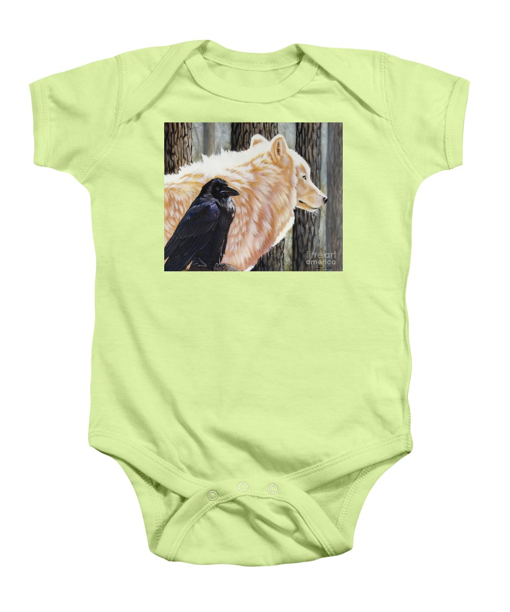 Acrylic Baby Onesie featuring the painting Dance In The Light by Sandi Baker