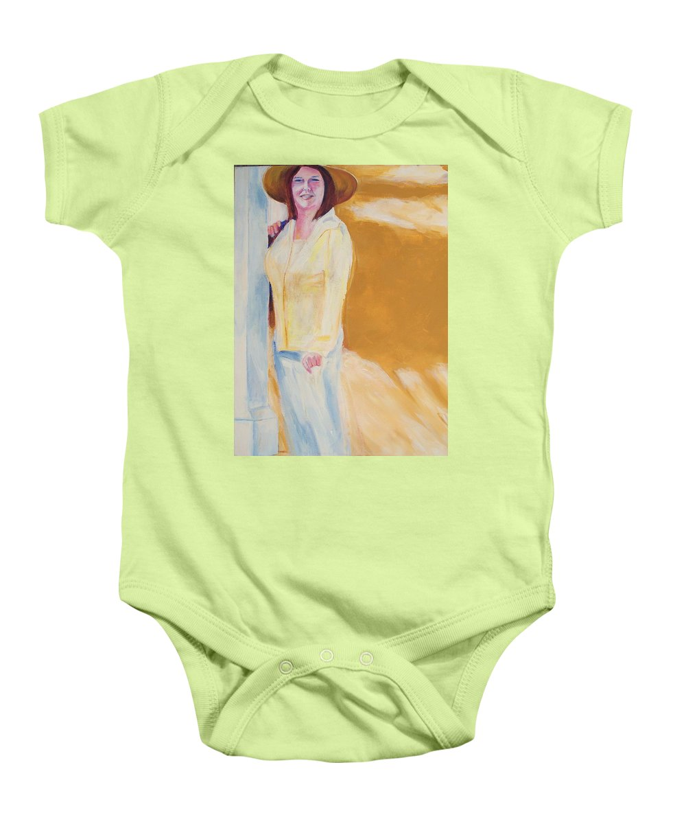 Portraits Baby Onesie featuring the painting Diane by Eric Schiabor