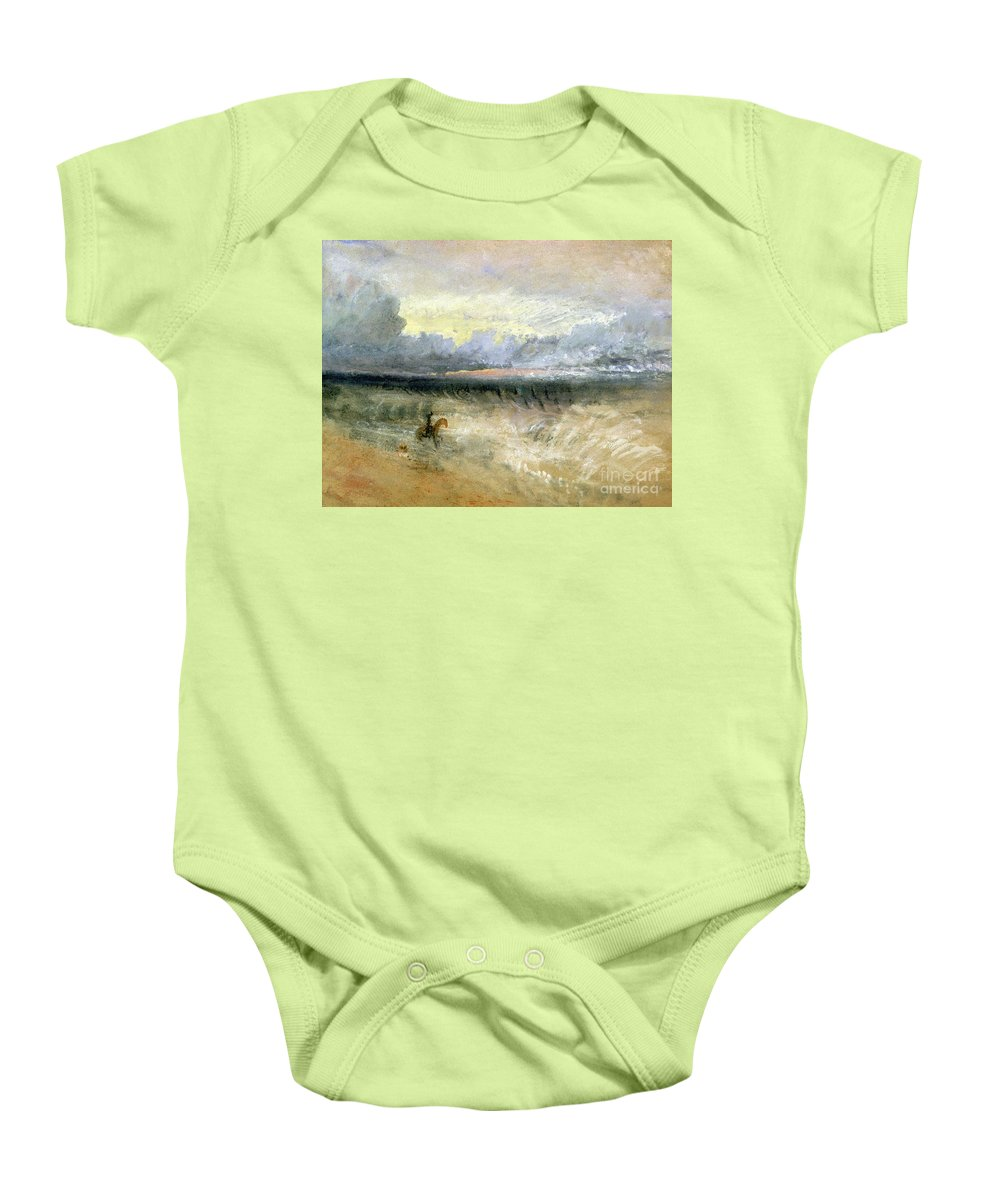 Dover Baby Onesie featuring the painting Dover by Joseph Mallord William Turner