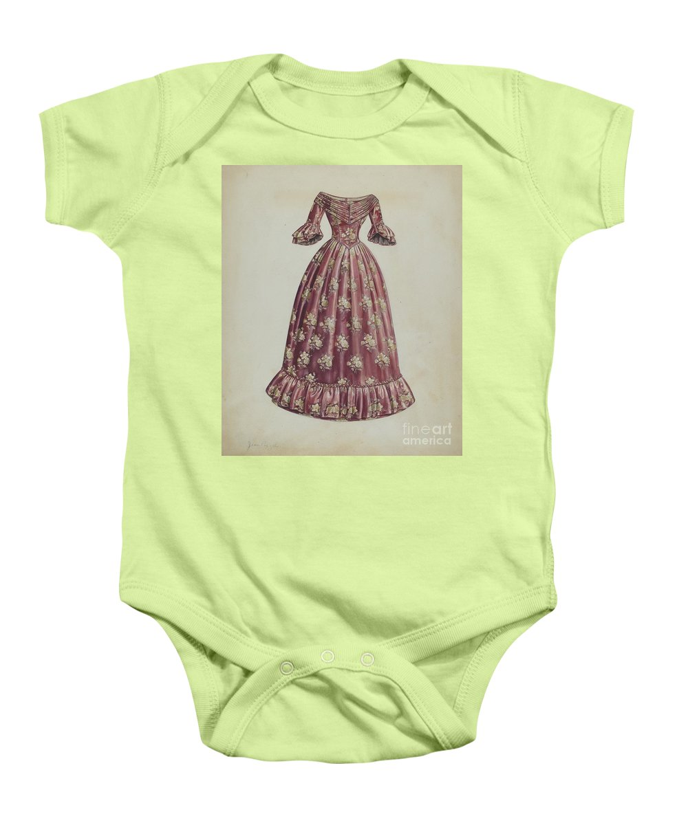 Baby Onesie featuring the drawing Dress by Jean Peszel