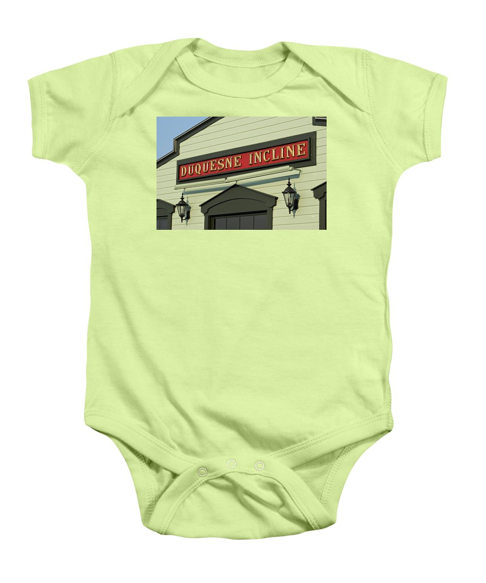 Duquesne Baby Onesie featuring the photograph Duquesne Incline by Frozen in Time Fine Art Photography