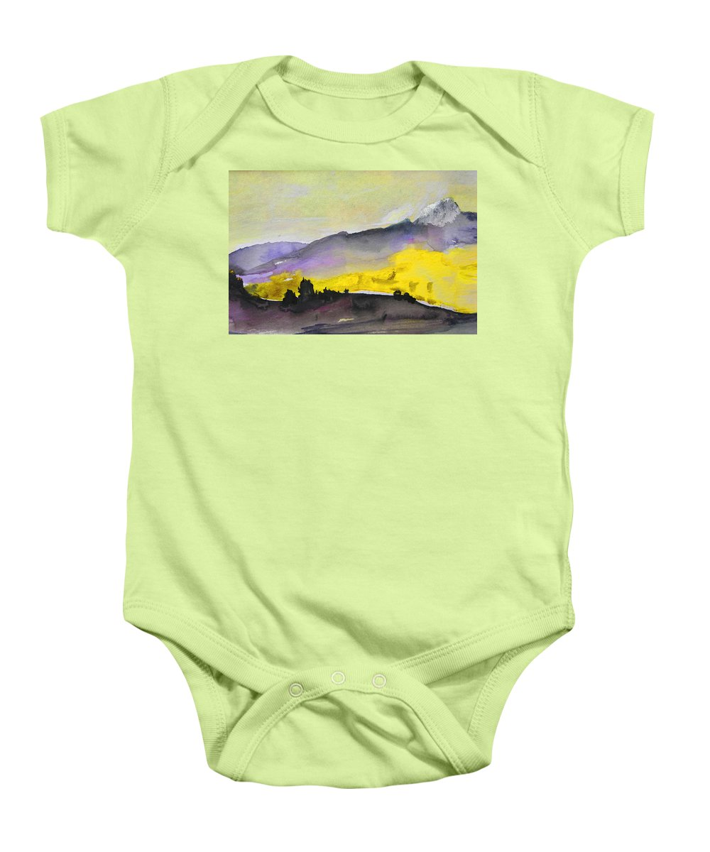 Watercolour Baby Onesie featuring the painting Early Morning 08 by Miki De Goodaboom