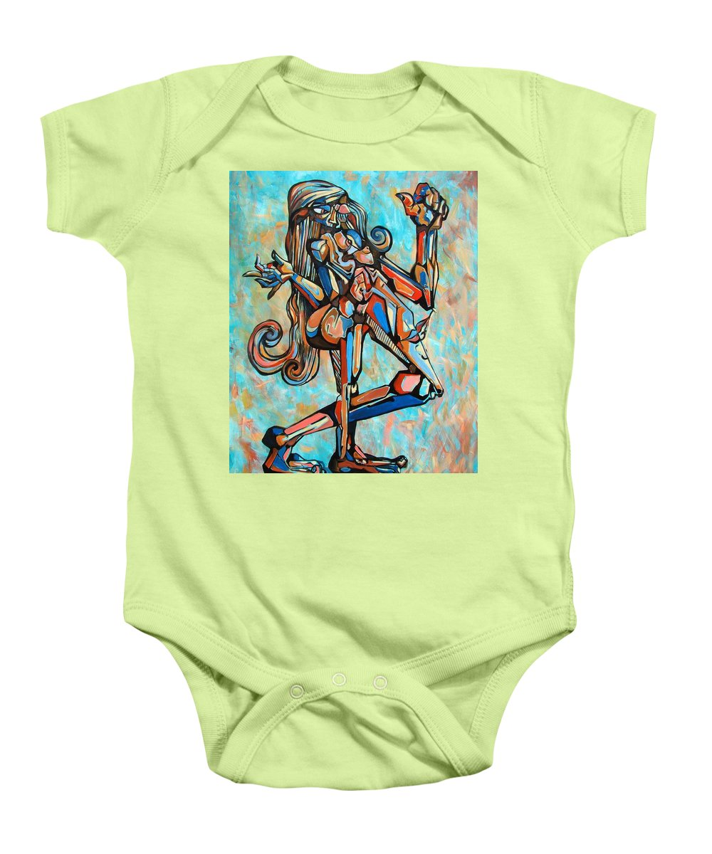 Surrealism Baby Onesie featuring the painting Ego by Darwin Leon