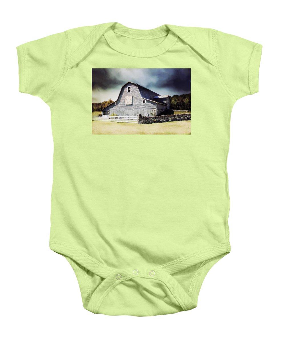 #barn Baby Onesie featuring the photograph Empyrean Estate by Julie Hamilton