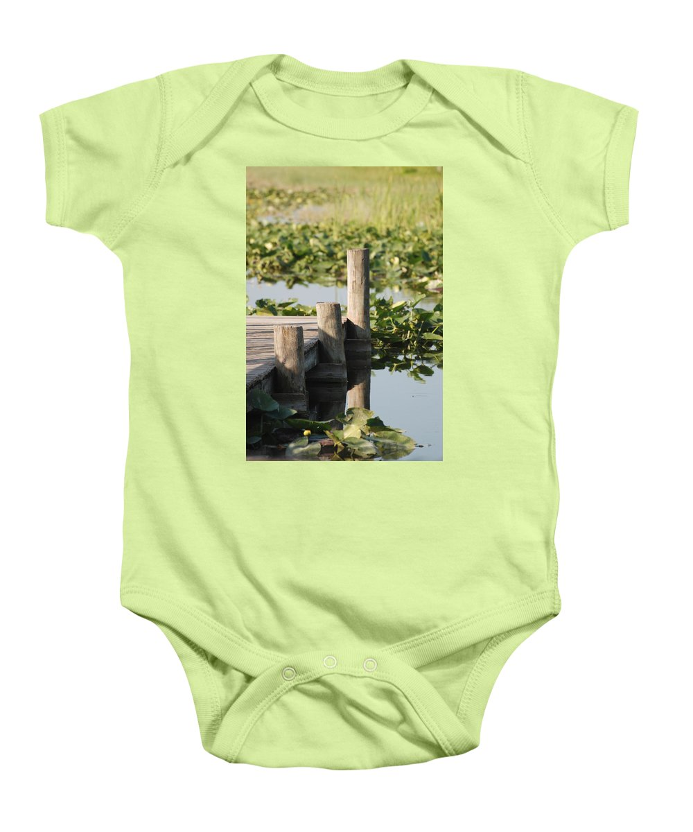 Landscape Baby Onesie featuring the photograph Everglades Pier by Rob Hans