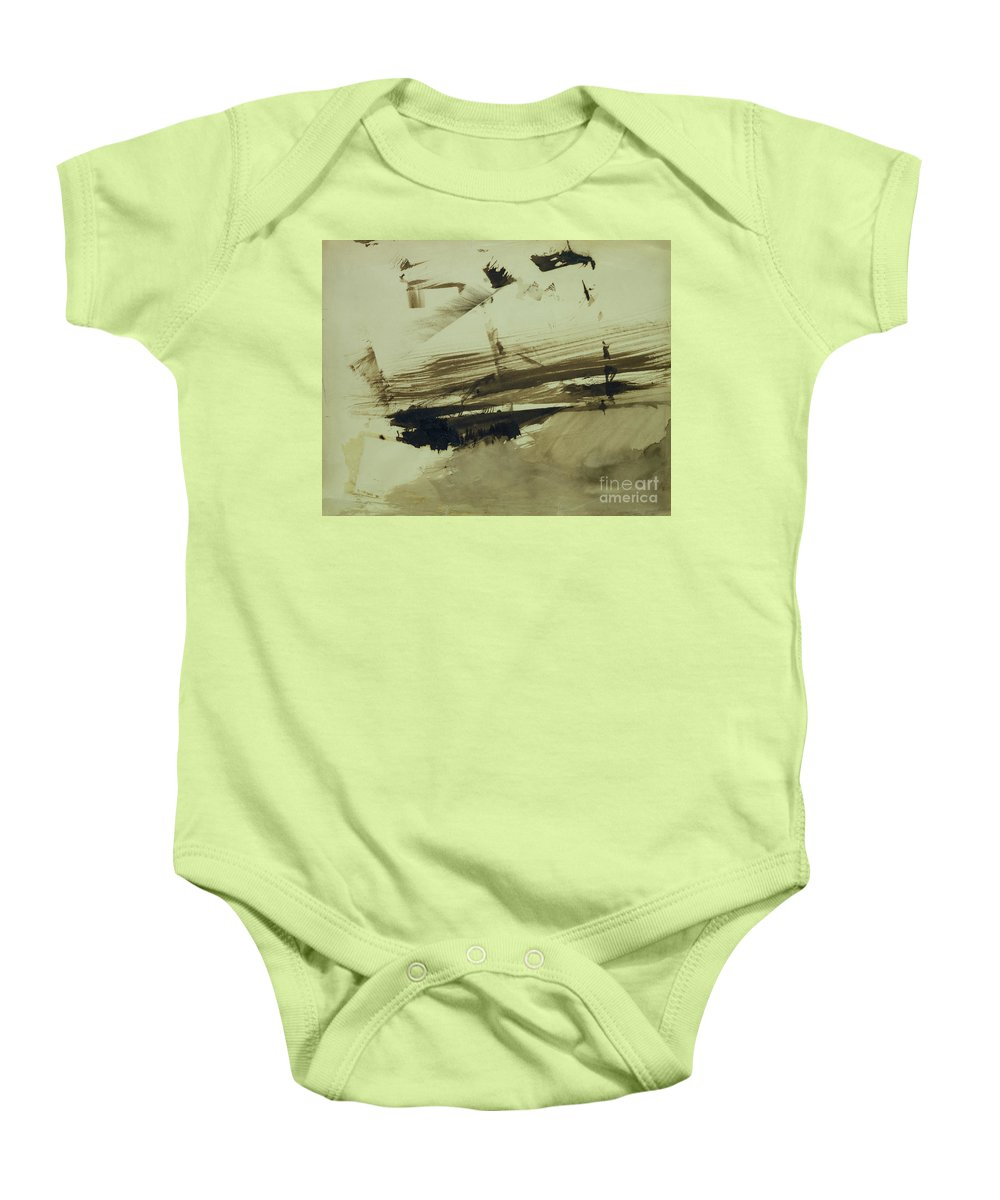 Ink And Wash On Paper Baby Onesie featuring the painting Evocation Of An Island by Victor Hugo