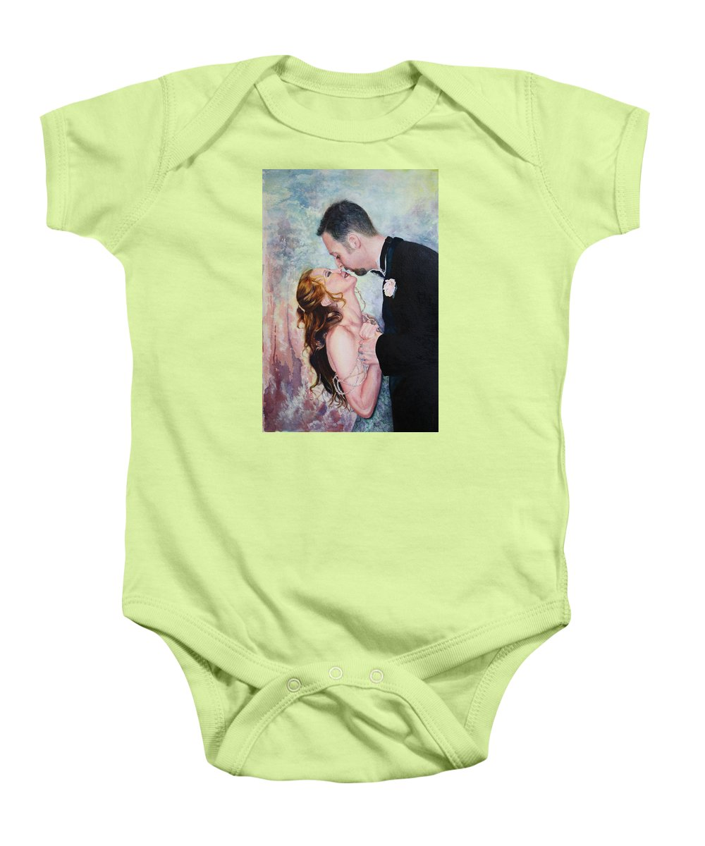 Dance Baby Onesie featuring the painting First Dance by Mary Beglau Wykes
