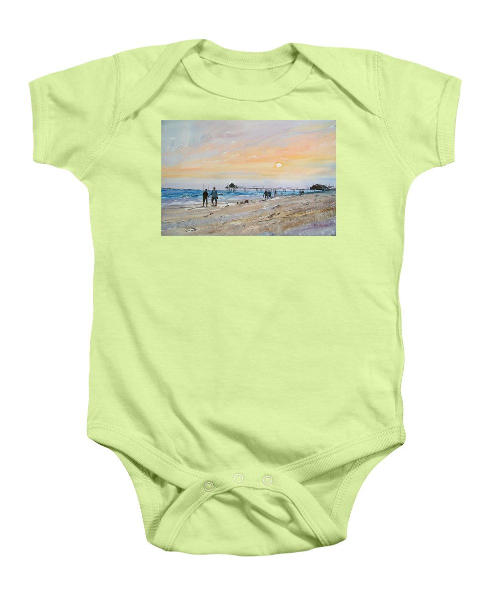 Landscape Baby Onesie featuring the painting Florida Sunset by Ryan Radke