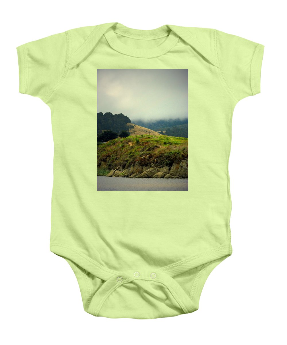 Fog Baby Onesie featuring the photograph Fog Over The Lagoon by Joyce Dickens
