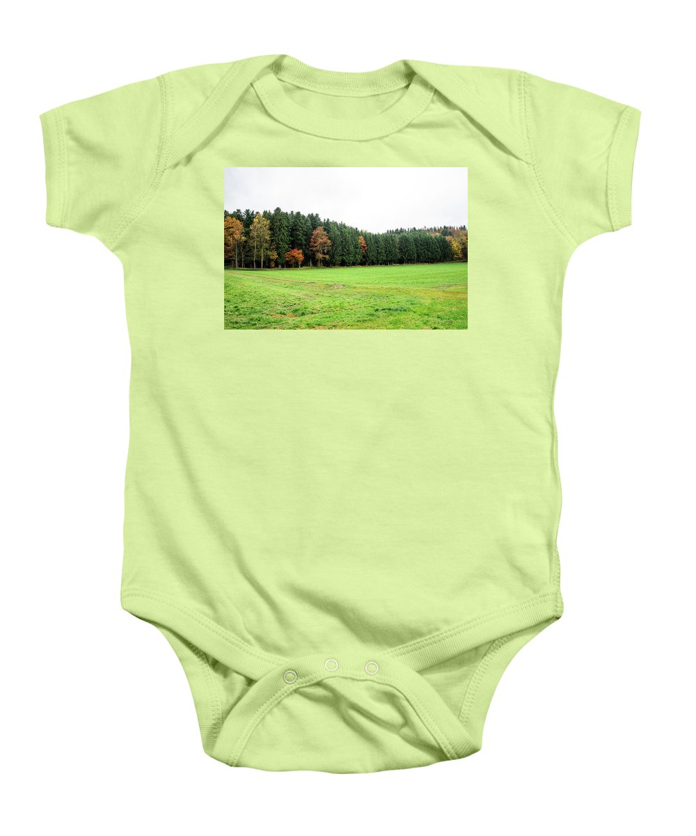 Autumn Baby Onesie featuring the photograph Forest In Bavaria by Jesus Fernandez