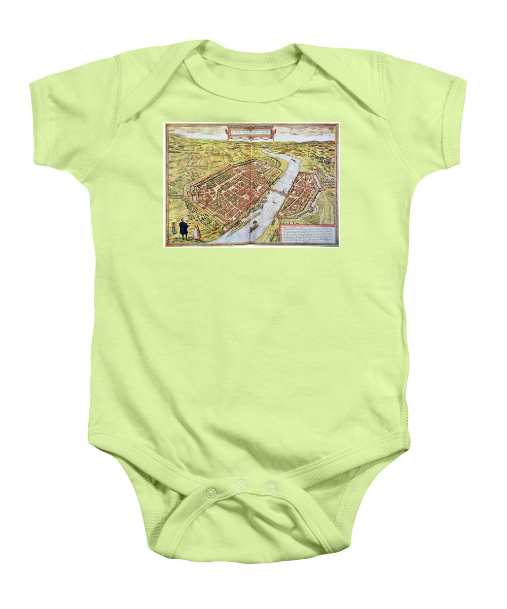 1572 Baby Onesie featuring the photograph Frankfurt, Germany, 1572 by Granger