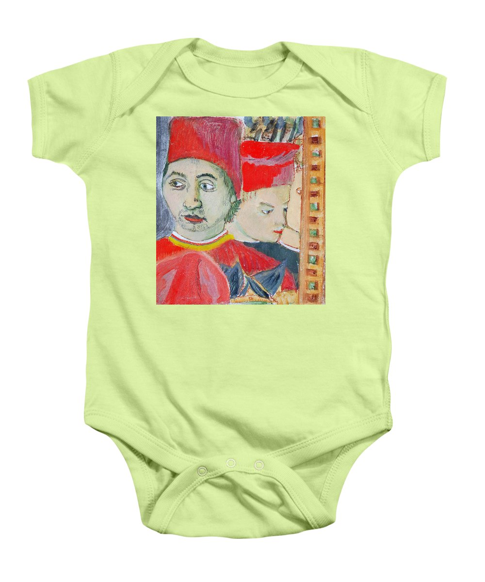 Italian Baby Onesie featuring the painting Fratello by Kurt Hausmann