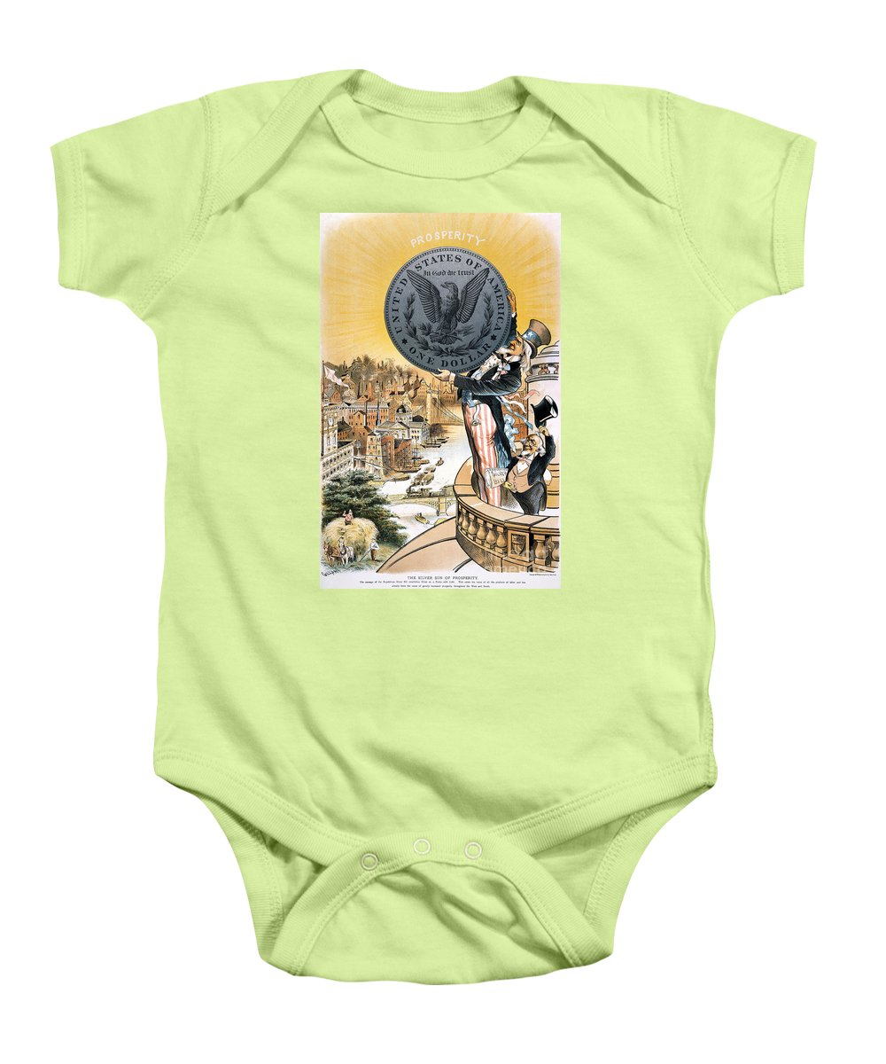 1890 Baby Onesie featuring the photograph Free Silver Cartoon, 1890 by Granger