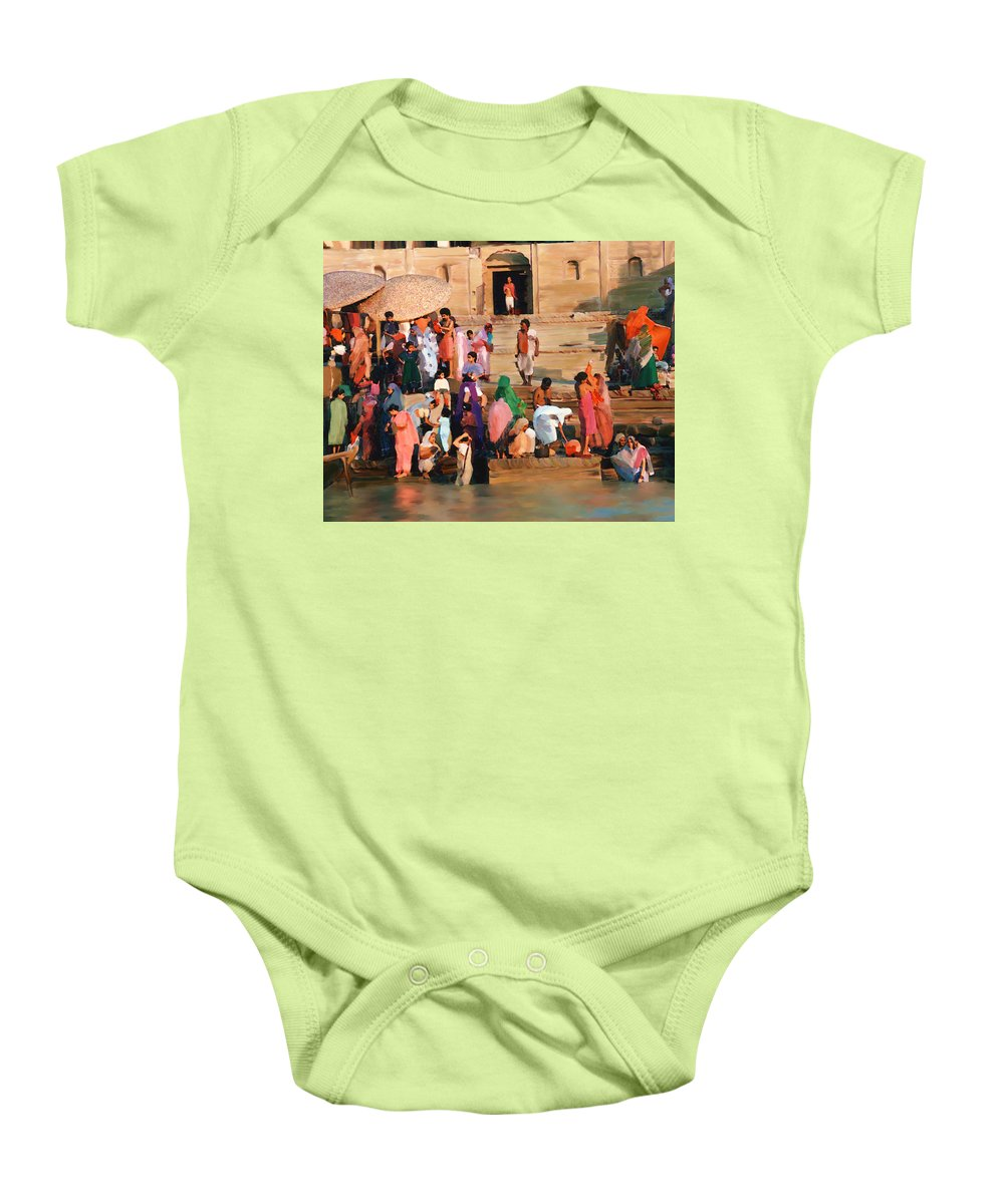 Ganges River Baby Onesie featuring the photograph Ganges by Kurt Van Wagner