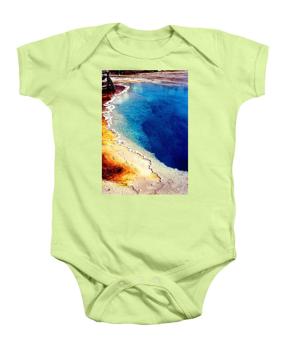 Geyser Baby Onesie featuring the photograph Geyser Basin by Nancy Mueller