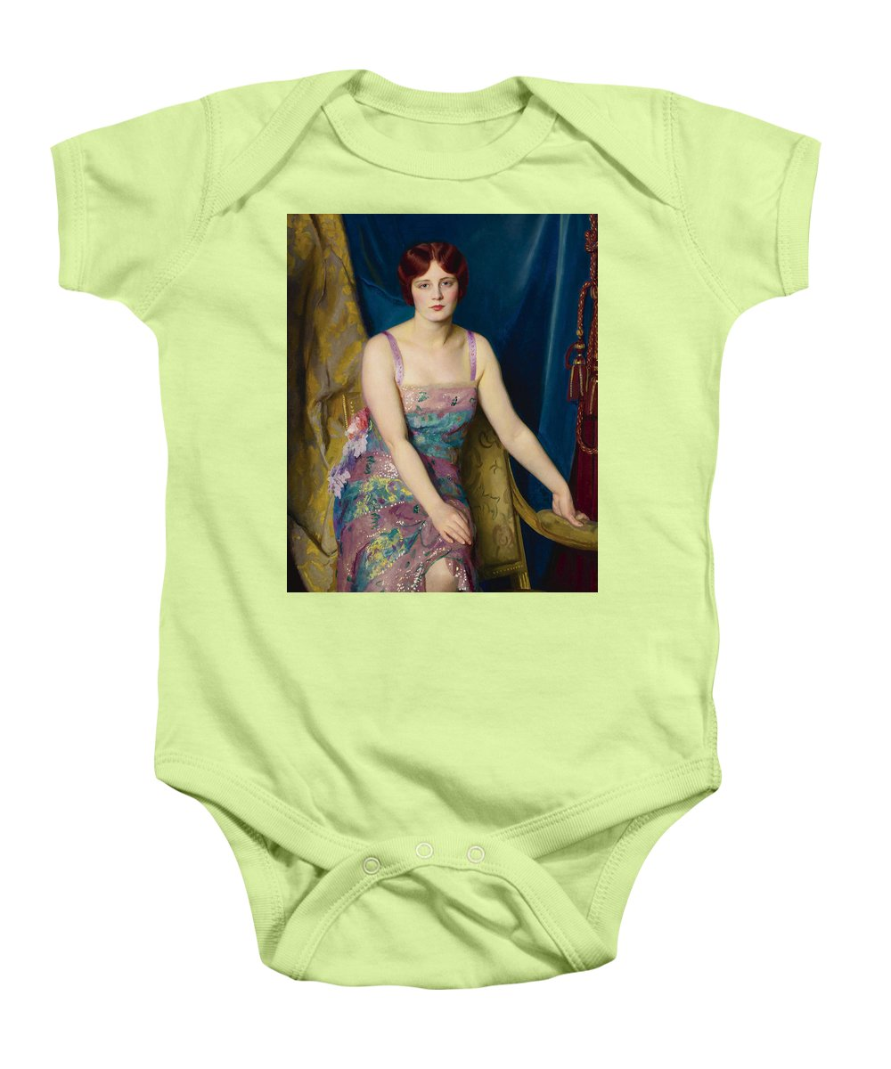 William Mcgregor Paxton (american Baby Onesie featuring the painting Glitter by William McGregor