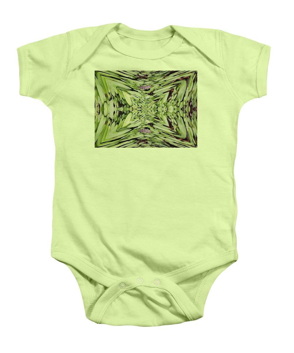 Nature Baby Onesie featuring the digital art Ground Cover Vortex by Tim Allen