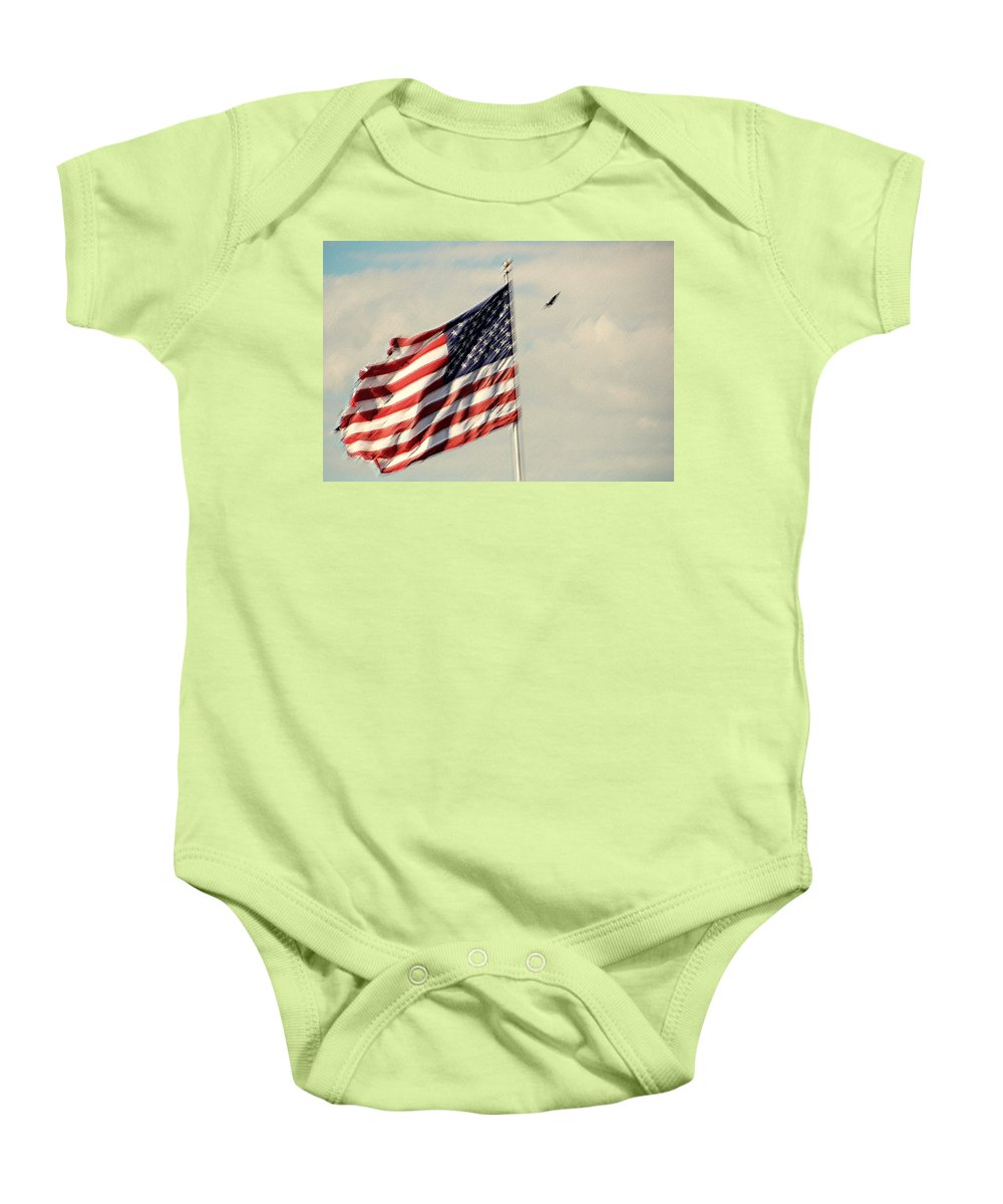 Photography Baby Onesie featuring the photograph Happy Birthday America by Susanne Van Hulst