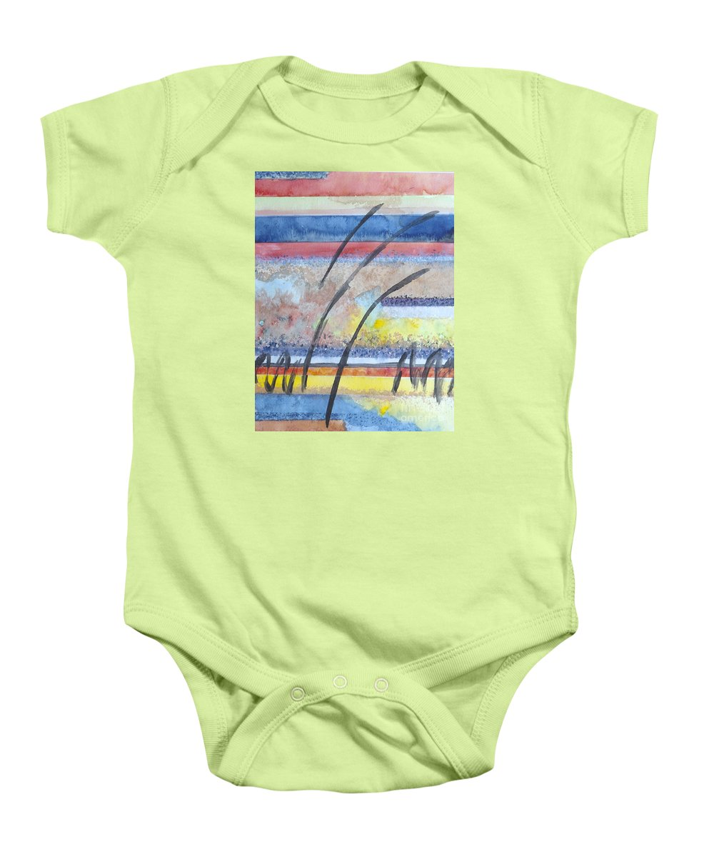 Abstract Baby Onesie featuring the painting Heartbeat by Jacqueline Athmann