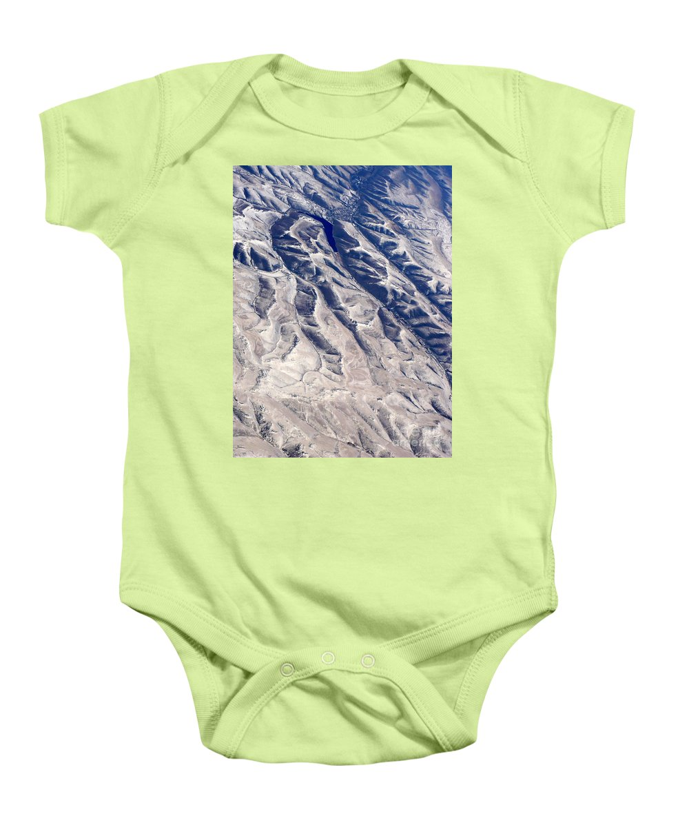 Aerial Baby Onesie featuring the photograph Hills And Valleys Aerial by Carol Groenen