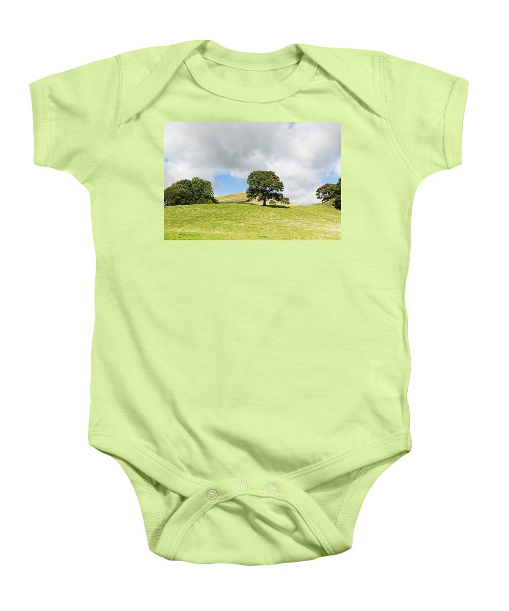 Crook Fell Baby Onesie featuring the photograph Hills Of Sedbergh Cumbria by Joseph Clemson