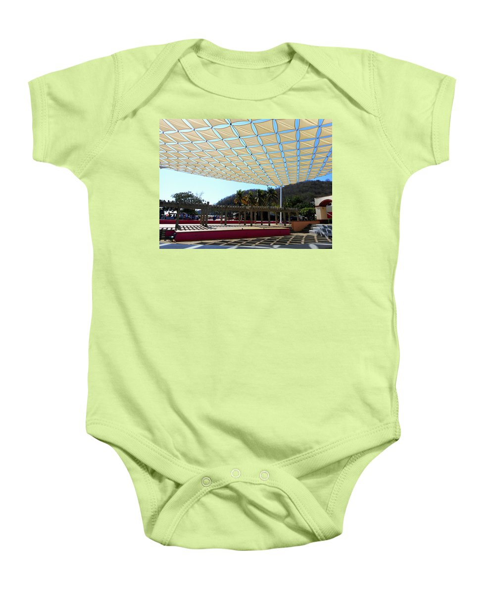 Santa Cruz Mexico Baby Onesie featuring the photograph Huatulco 1 by Ron Kandt