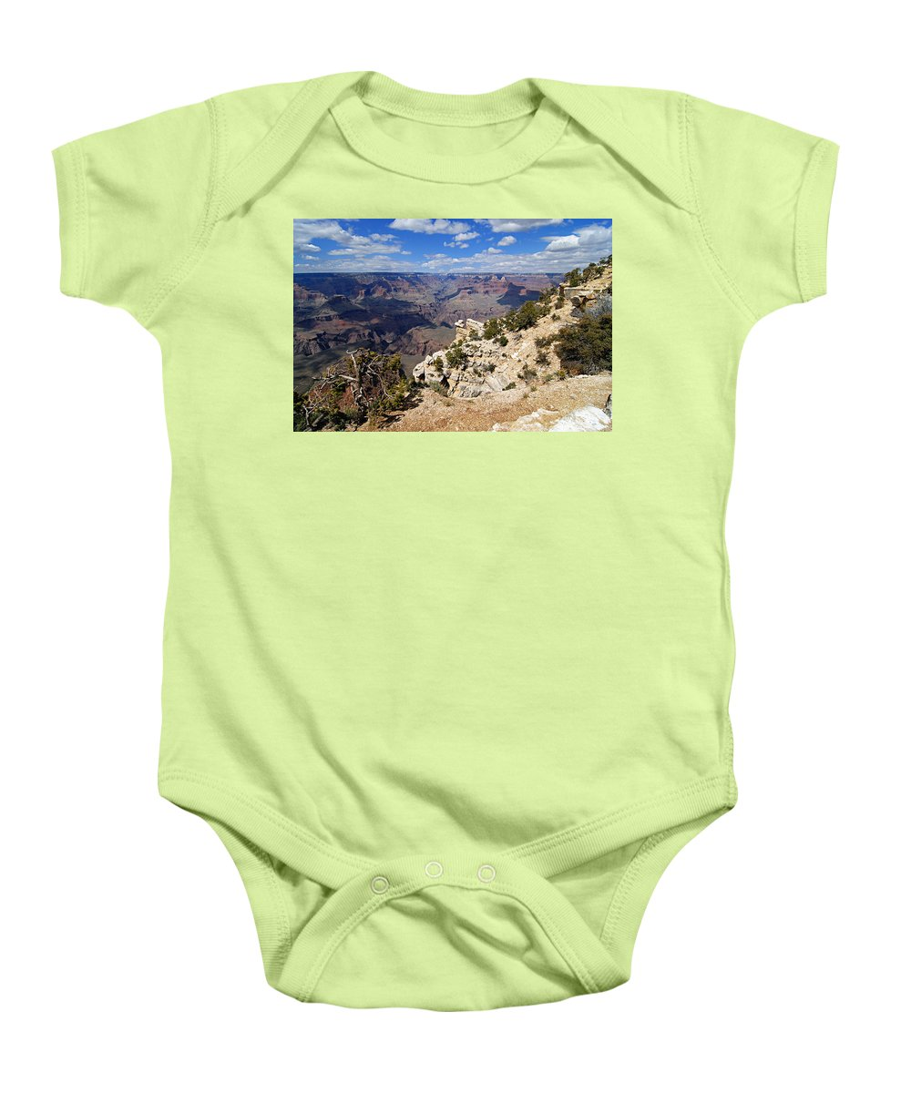 Grand Canyon National Park Baby Onesie featuring the photograph I Can See For Miles And Miles - Grand Canyon by Larry Ricker