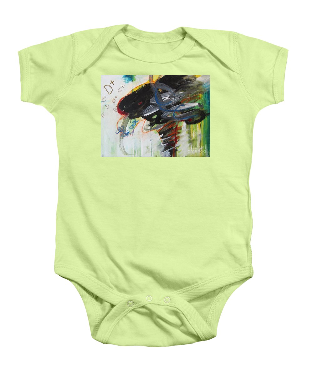 Abstract Paintings Paintings Abstract Art Paintings Baby Onesie featuring the painting I Got D by Seon-Jeong Kim