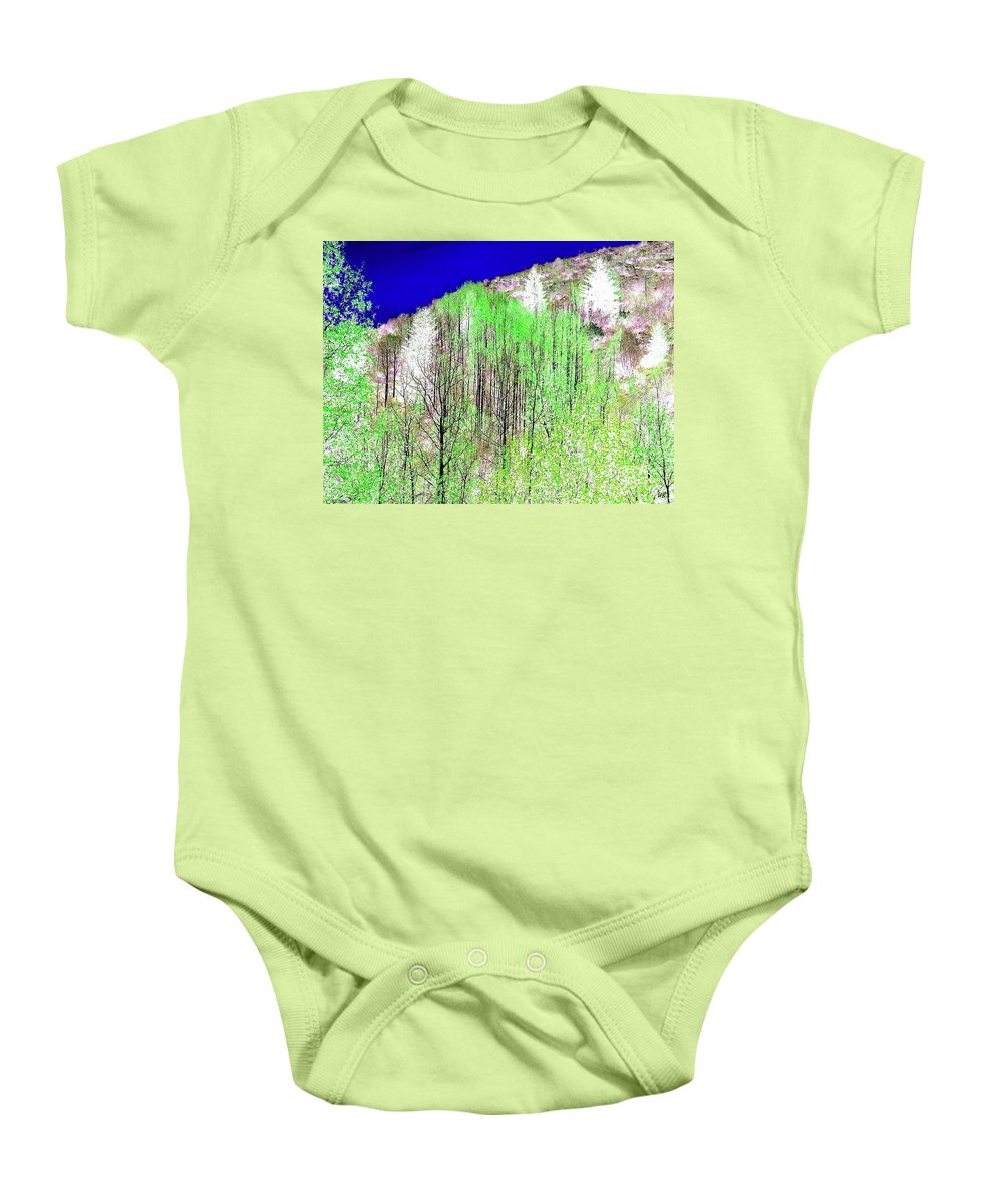 Impressions Baby Onesie featuring the digital art Impressions 12 by Will Borden