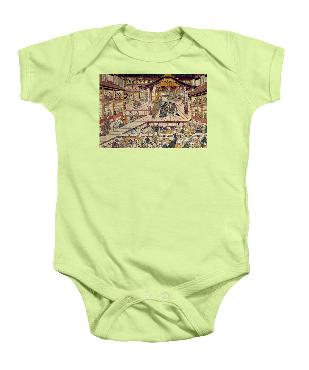 18th Century Baby Onesie featuring the photograph Japan: Kabuki Theater by Granger