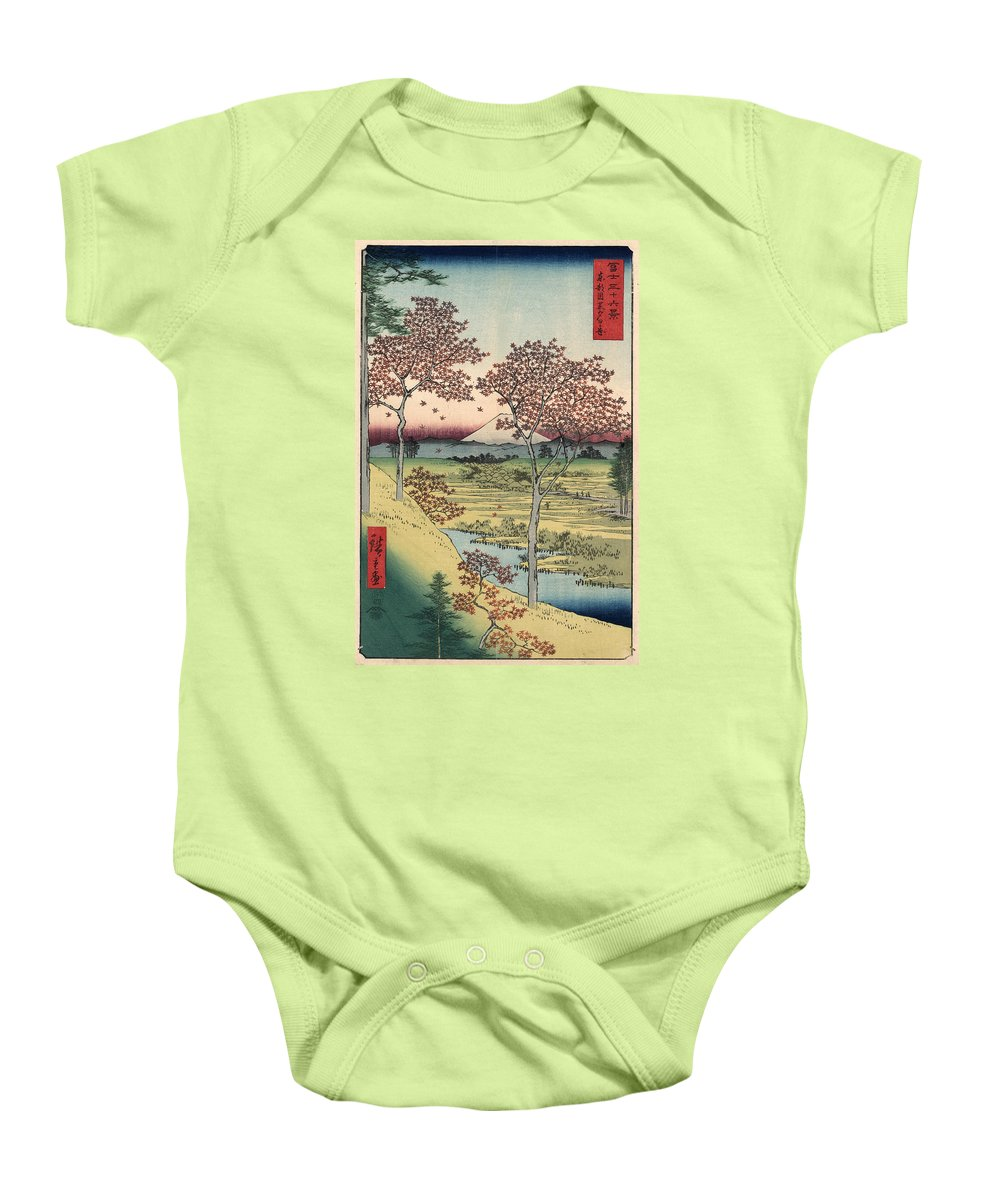 1858 Baby Onesie featuring the photograph Japan: Maple Trees, 1858 by Granger