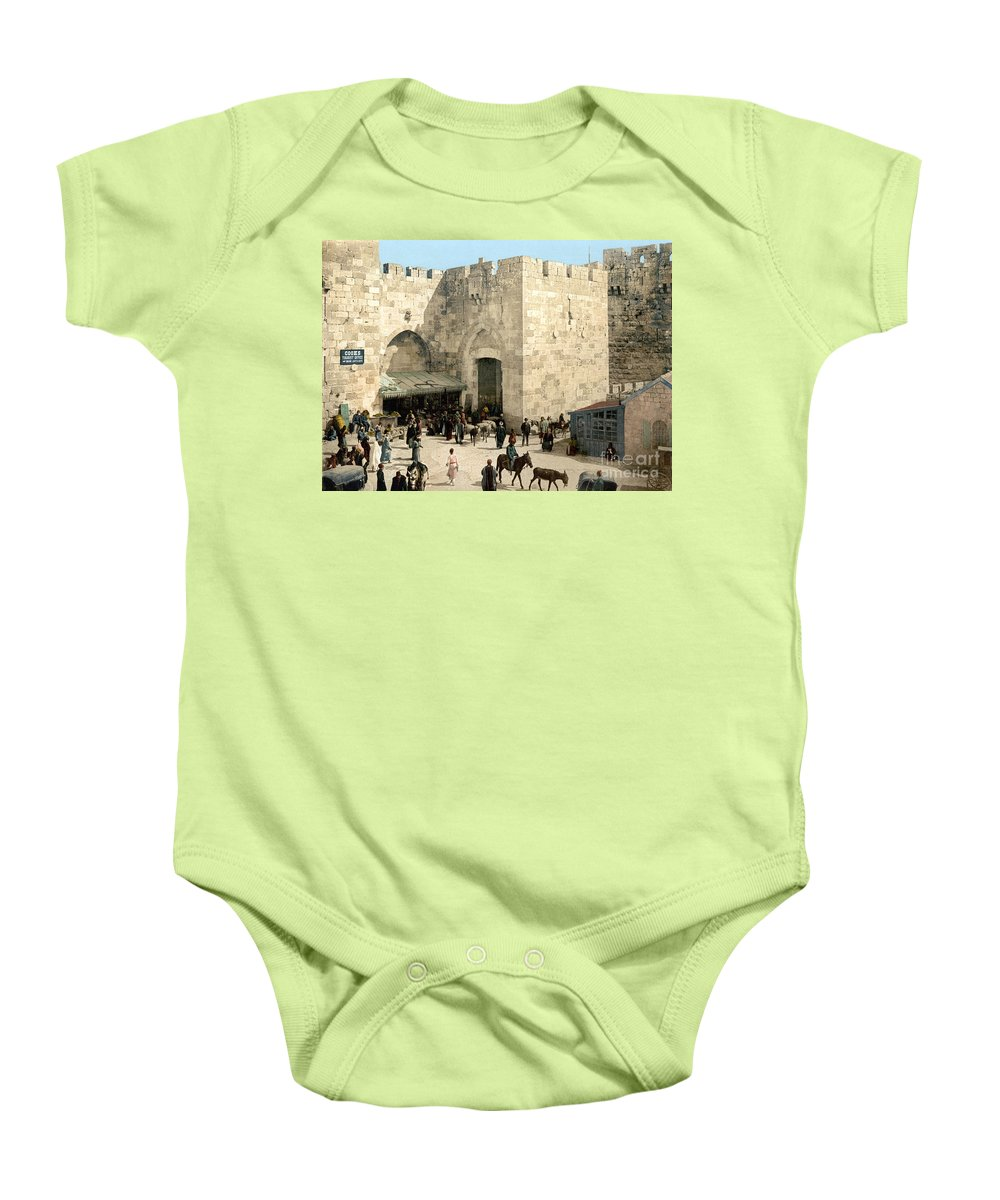 1900 Baby Onesie featuring the photograph Jerusalem: Jaffa Gate by Granger
